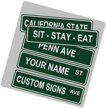 "Custom Street Sign 4""x18"" Aluminum"