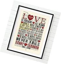 Custom Vintage Bible page PERSONALIZED verse scripture Love
