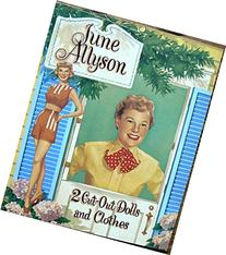 June Allyson Cut Out Dolls and Clothes - Paper Doll Book