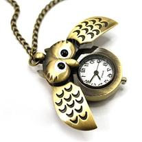 Enjoydeal Cute Antique Chain Necklace Night Owl Pattern