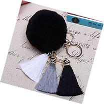 Spritech Cute Fashion Car Bag Key Chain Accessary Rabbit Fur