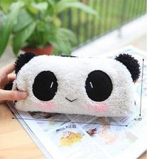 Cute Lovely Soft Plush Panda Pencil Pen Case Bag in Bag