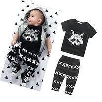 2pcs New Cute Infant Kids Baby Boys Outfits T-shirt +Pants