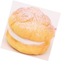 Cute small cream puff squishy cellphone charm