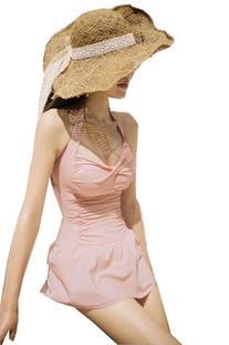 Cute Swimsuit for Women with Skirt One Piece Swim Wear Light