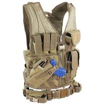 Condor CV-003 TAN Military Cross Draw Tactical Chest Rig