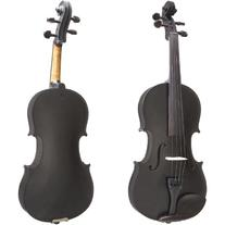Cecilio CVN-Black Ebony Fitted Solid Wood Violin with Tuner