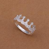 CY-Buity Korean Style 925 Sliver Plated King Crown White