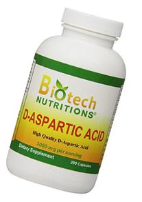 Biotech Nutritions D-Aspartic Acid Dietary Supplement, 3000