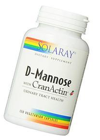 Solaray D-Mannose with CranActin - 120 Capsules