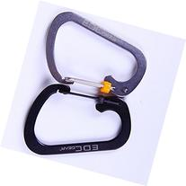 Ezyoutdoor 2pcs D Ring Locking Carabiner, Sahara Sailor