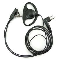 D Shape Earpiece Headset PTT for Motorola Two Way Radio