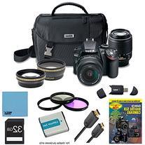 Nikon D3200 Ultimate 4 Lens Experience includes: D3200