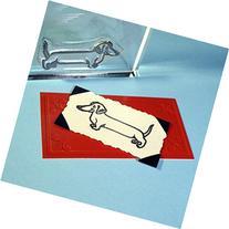 "Dachshund Weiner Dog Stamp, clear polymer cling 1""x2"","