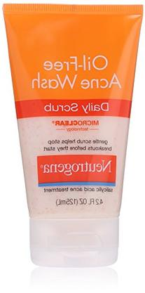 Neutrogena Daily Scrub Oil-Free Acne Wash, 4.2 OZ