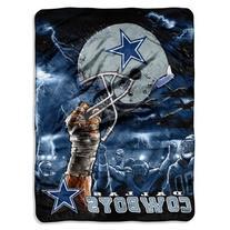 NFL Dallas Cowboys 60-Inch-by-80-Inch Plush Rachel Blanket,