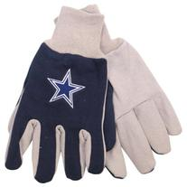 NFL Dallas Cowboys Two-Tone Gloves, Blue/Gray