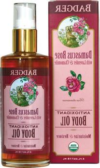 Badger Damascus Rose Antioxidant Body Oil with Lavender &