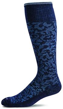 Sockwell Women's Damask Socks, Navy, Medium/Large