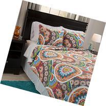 Lavish Home Danette Reversible 2 Piece Quilt Set with Sherpa