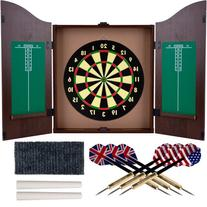 Trademark Gameroom Dartboard Cabinet Set with Realistic