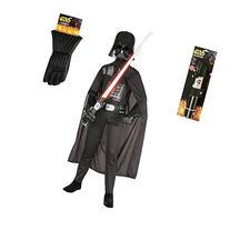 Kid's Darth Vader Star Wars Costume Set with Lightsaber and