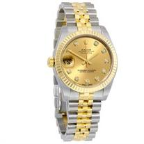 Rolex Datejust Lady 31 Champagne Dial Steel and 18K Yellow