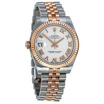 Rolex Datejust Lady 31 White Dial Steel and 18K Yellow Gold