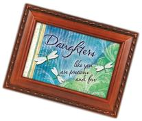Daughter Cottage Garden Woodgrain Traditional Music Box