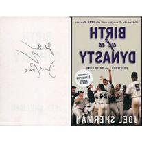 David Cone & Joel Sherman Autographed For Birth of a Dynasty