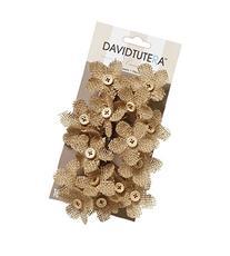 David Tutera Burlap Flower Picks - 4.5 x 3.5 inches - 16