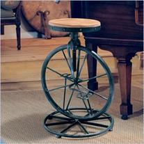 "Trent Home 26"" Davide Bicycle Wheel Adjustable Bar Stool in"