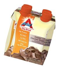 Atkins Day Break Creamy Chocolate Shake, 11-Ounces, 4-Count