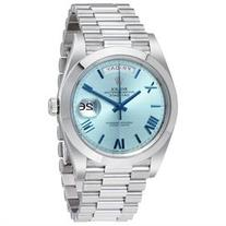Rolex Day-Date Automatic Ice Blue Dial Platinum Mens Watch