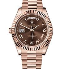 Rolex Day-Date II 41 President Everose Gold Watch Chocolate