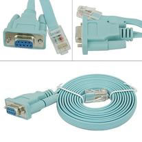 HDE 6ft DB9 9-Pin Serial RS232 Port to RJ45 Cat5 Ethernet