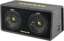 Kicker 10 Inch 1200 Watt Dual Loaded Car Audio Subwoofer