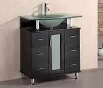 Design Element Huntington Single Drop-In Sink Vanity Set