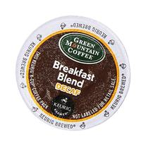 Green Mountain Coffee Decaf Light Roast Breakfast Blend, K-