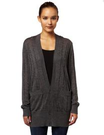 French Connection Women's Deconstructed Knits, Dark Grey