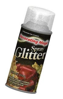 Decorating Magic Spray Glitter 6oz-Silver