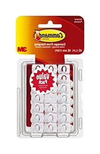 Command Decorating Clips, 40 Small Clips, White