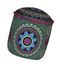 Decorative Entrance Hand Embroidered Design Ottoman Cover 18
