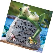 Outdoor Decorative Frog Parking Only Garden Stone