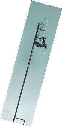 "35"" Decorative Metal Faucet Motif Garden Rain Gauge-Colors"