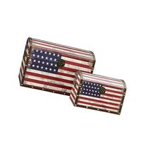 Household Essentials Decorative Storage Trunk, American Flag