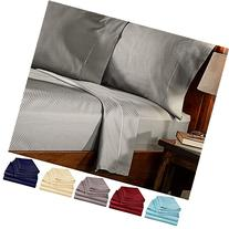 4 Piece Deep Pocket 1800 Series Bed Sheet Set Comfortable,