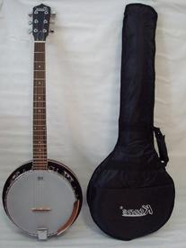 Ktone Deluxe 6 String Banjo, Closed Back, 24 Bracket, Remo