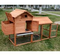Pawhut Deluxe Backyard Chicken Coop / Hen House w/ Outdoor