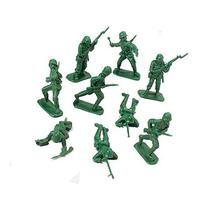 DELUXE BAG OF CLASSIC TOY GREEN ARMY SOLDIERS - 36 Pc